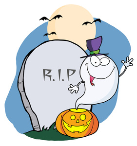 281x300 Ghost Clipart Grave Yard