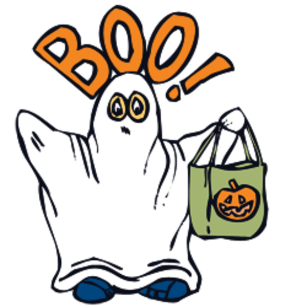 600x600 Boo Ghost Clipart Free