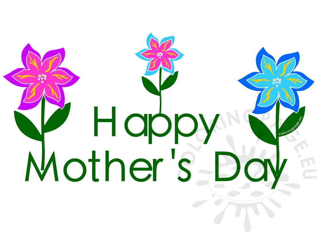 1103x807 Clipart Mothers Day 2017 Flowers Coloring Page