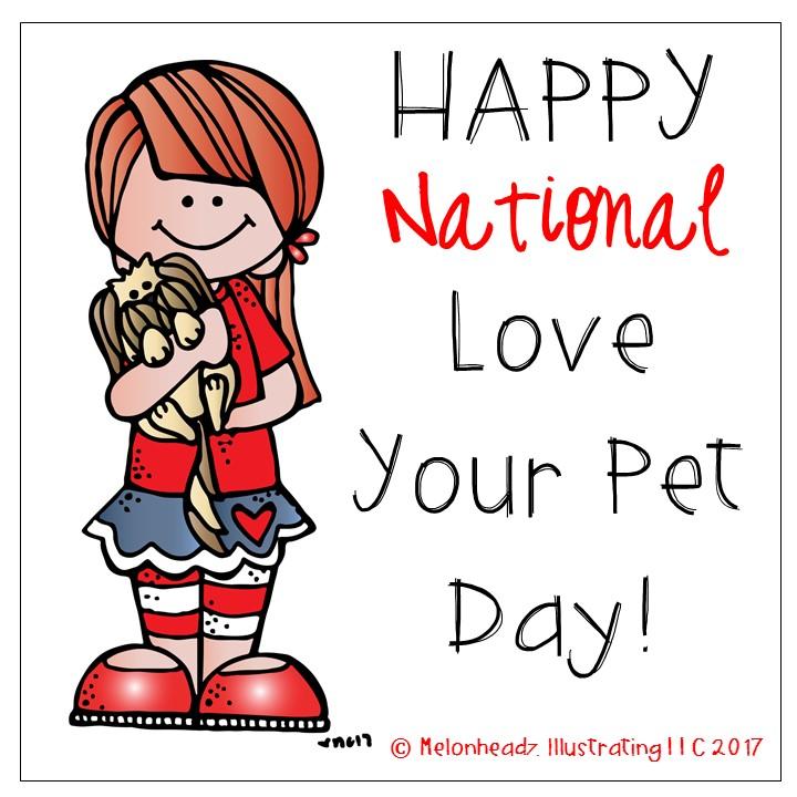 720x720 Melonheadz Happy National Love Your Pet Day Clip Art!!!