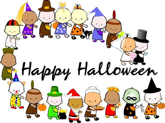 550x411 School Halloween Costume Parade Clipart