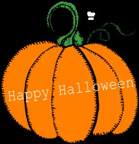 285x297 Happy Halloween Pumpkin Clip Art