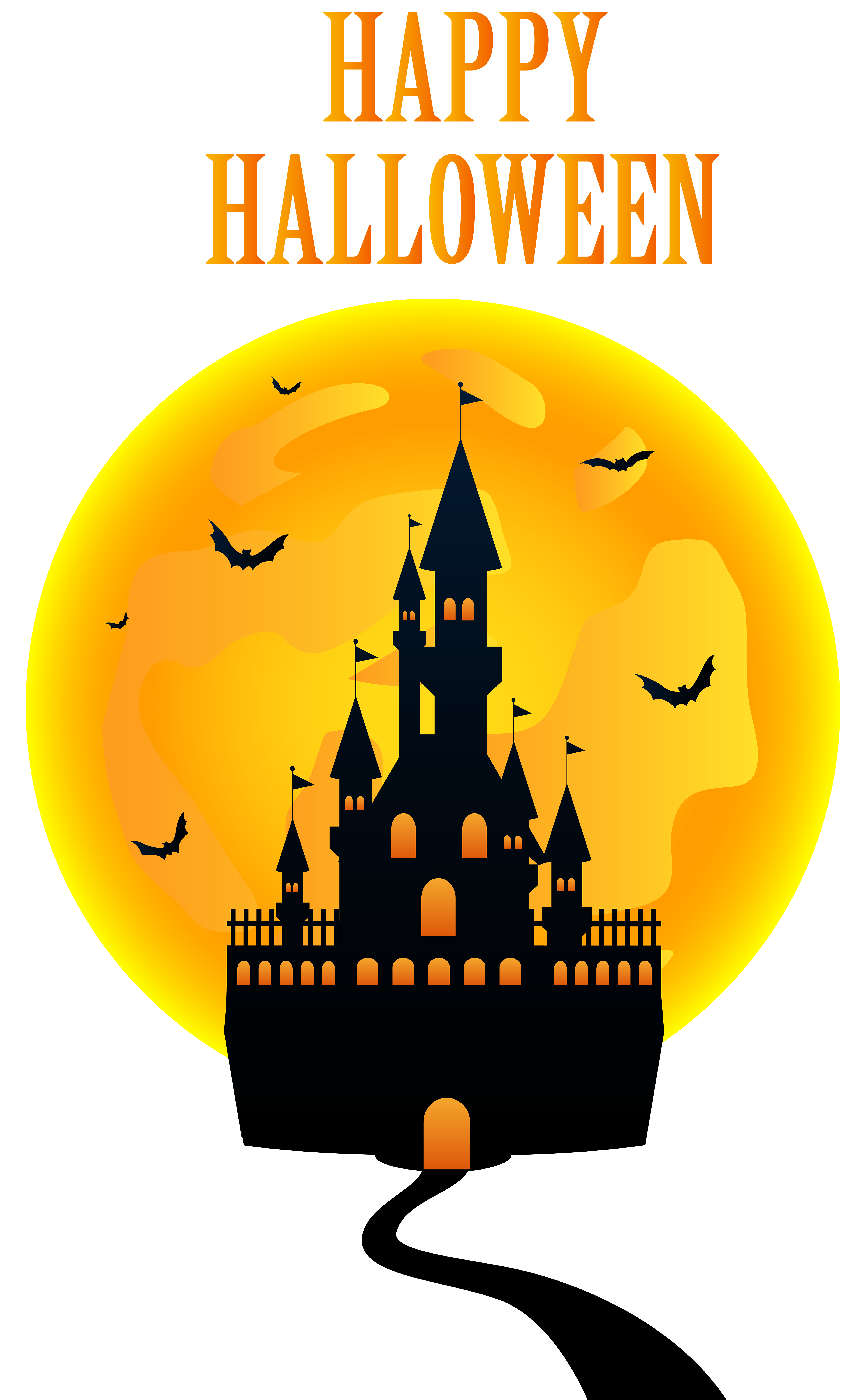 happy halloween clipart transparent - awesome graphic library •