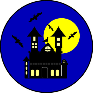 300x300 Haunted House Clipart