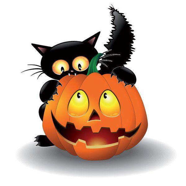 600x600 Haunted Clipart Halloween Cat