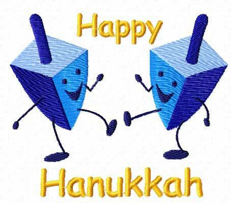 454x400 Happy Hanukkah Embroidery Design Picture