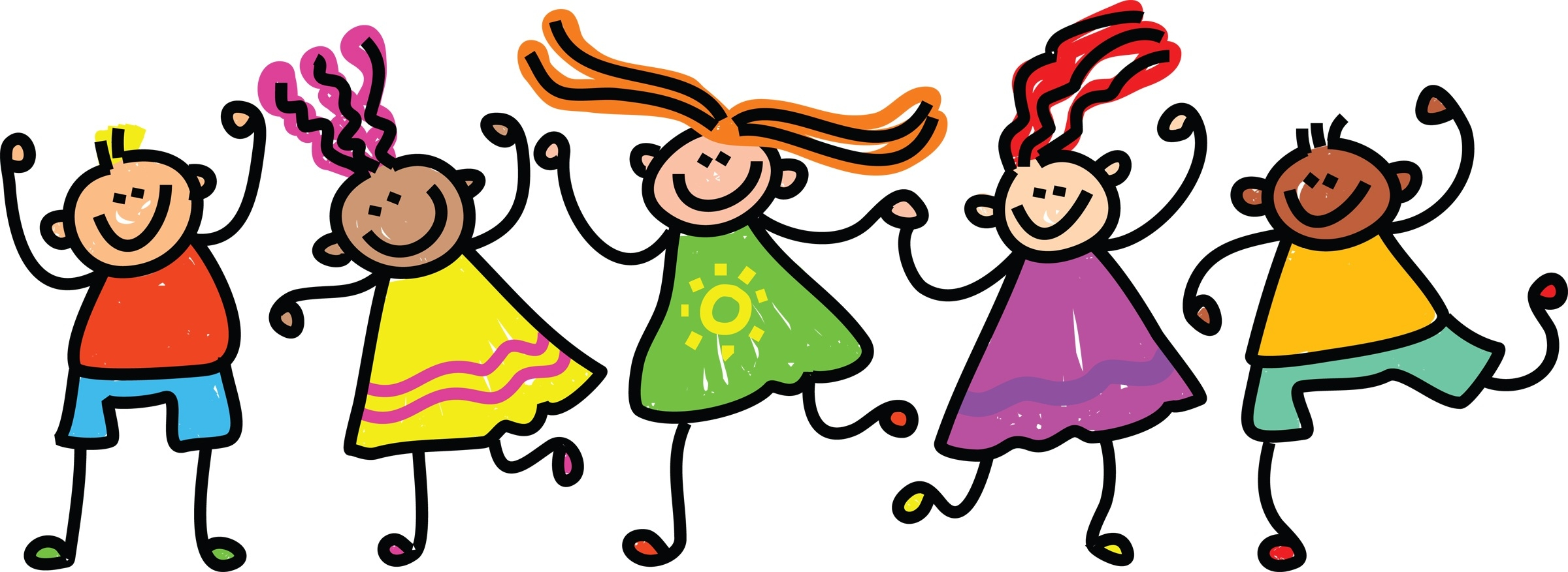 2400x877 Beautiful Of Happy Kids Clipart Black And White