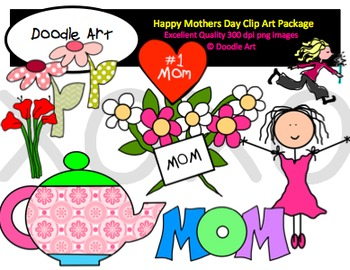 350x270 Happy Mothers Day Clipart Pack By Clipart For Teachers Tpt