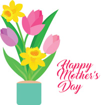 206x210 Mothers Day Clipart