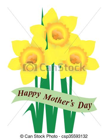 364x470 Daffodil Mom. Daffodils Mother's Day Card Vectors