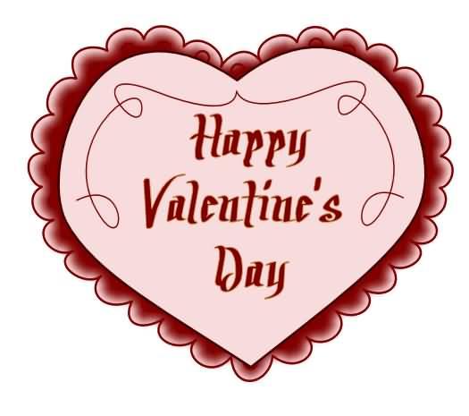 525x465 Happy Valentine's Day Heart Clipart