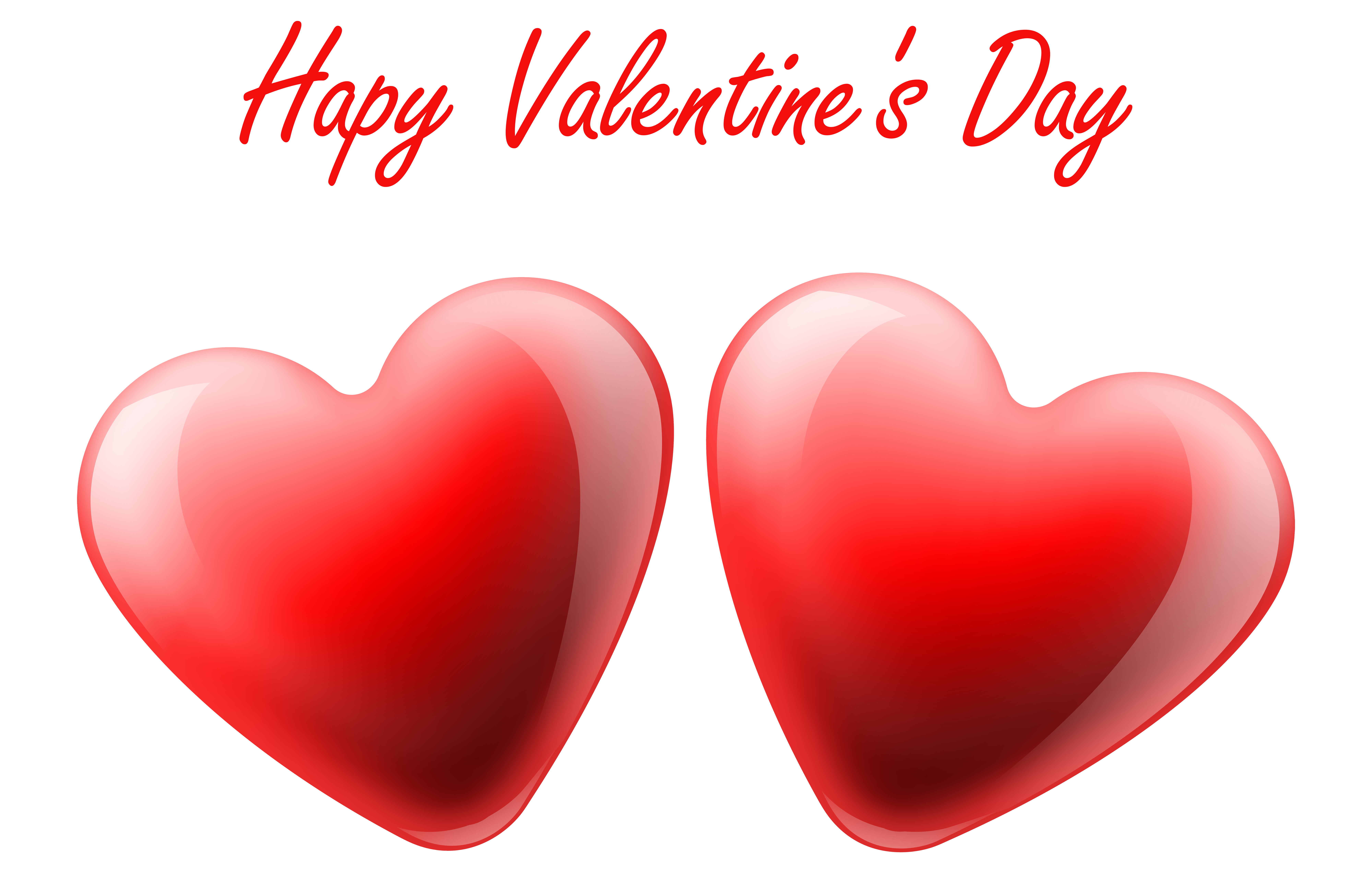 8000x5187 Happy Valentine's Day Hearts Transparent Png Clip Art Image