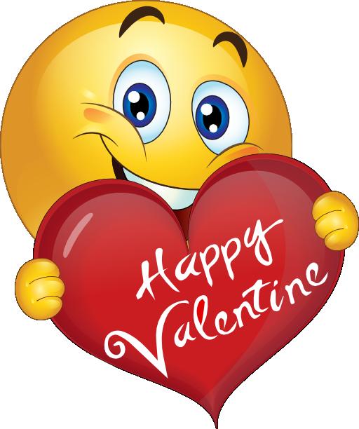 512x612 Happy Valentine Boy Smiley Emoticon Emoji Clipart