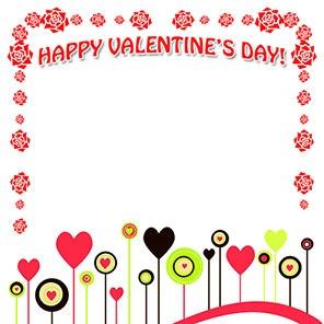 296x296 Valentine Hearts Border Clip Art Quotes Amp Wishes For Valentine'S