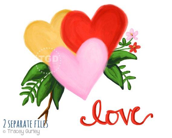 570x456 Watercolor Valentine Clipart, Valentine Clip Art, Heart Clipart