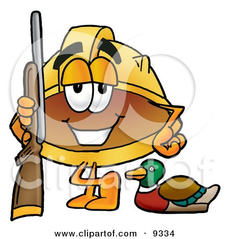 450x470 Clipart Picture Of A Hard Hat Mascot Cartoon Character Duck