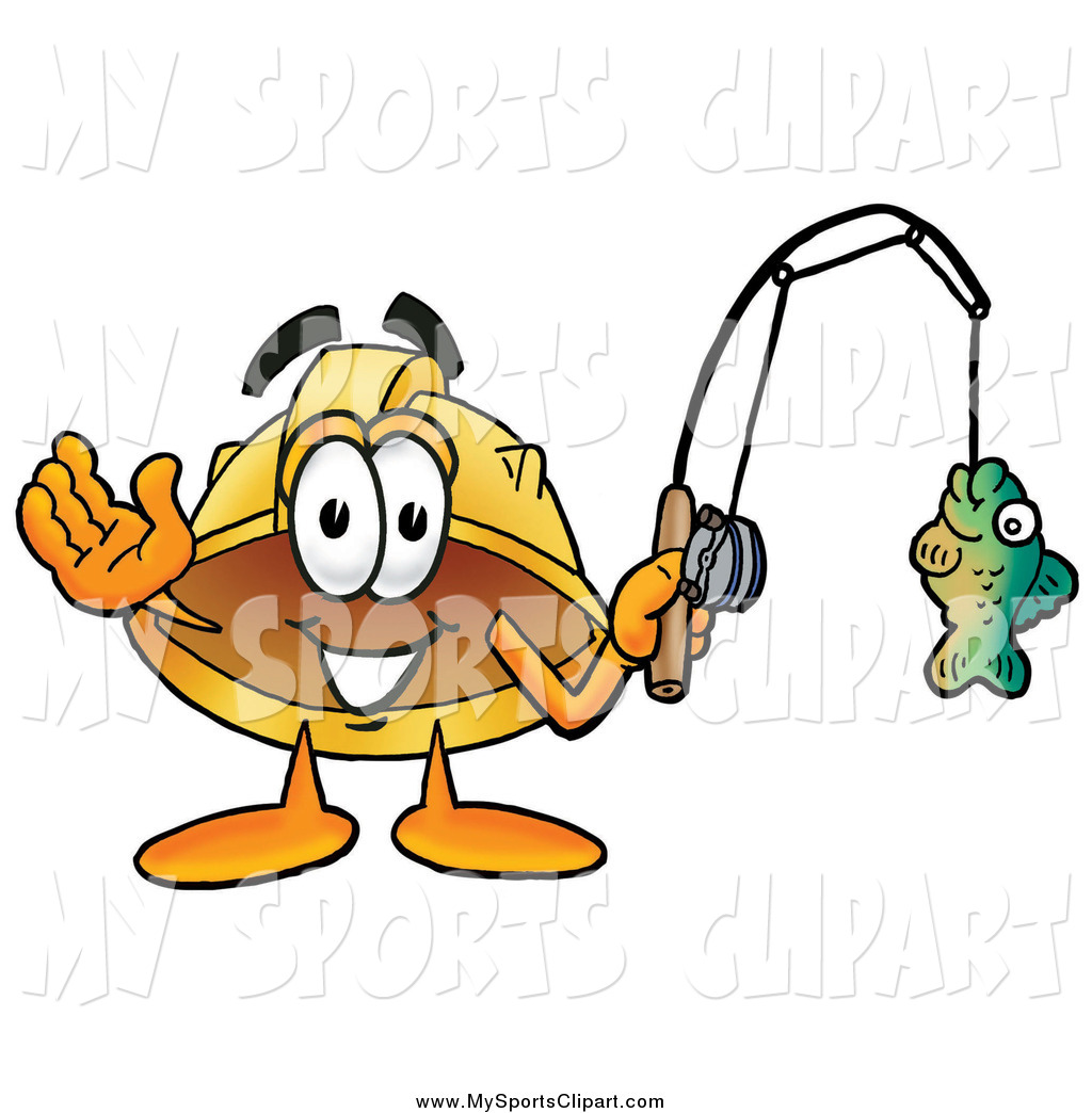 1024x1044 Sports Clip Art Of A Hard Hat Fishing And Waving By Toons4biz