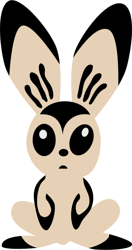 423x800 Free Clipart Hare By Rones Rones