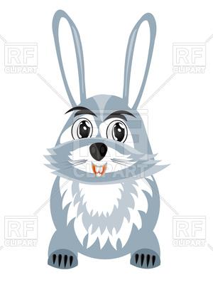 300x400 Happy Cartoon Hare Royalty Free Vector Clip Art Image