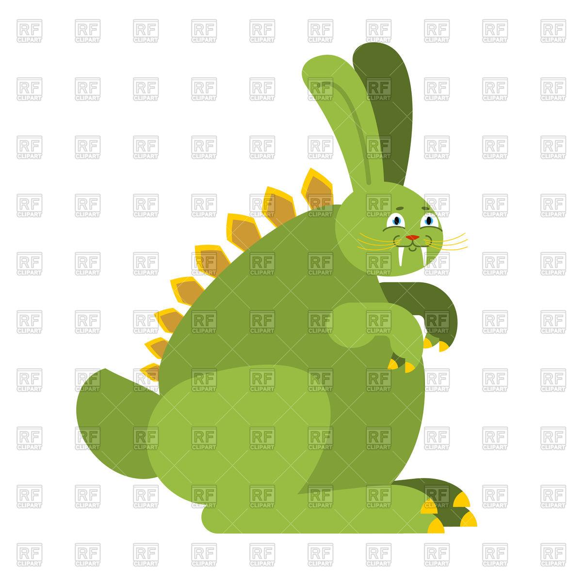 1200x1200 Prehistoric Rabbit Dinosaur. Raptor Hare Monster Royalty Free