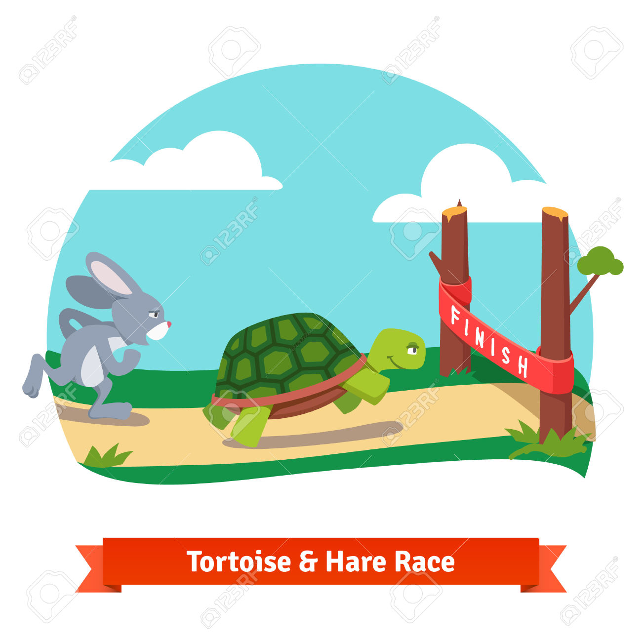1300x1300 Rabbit And Turtle Clipart Amp Rabbit And Turtle Clip Art Images