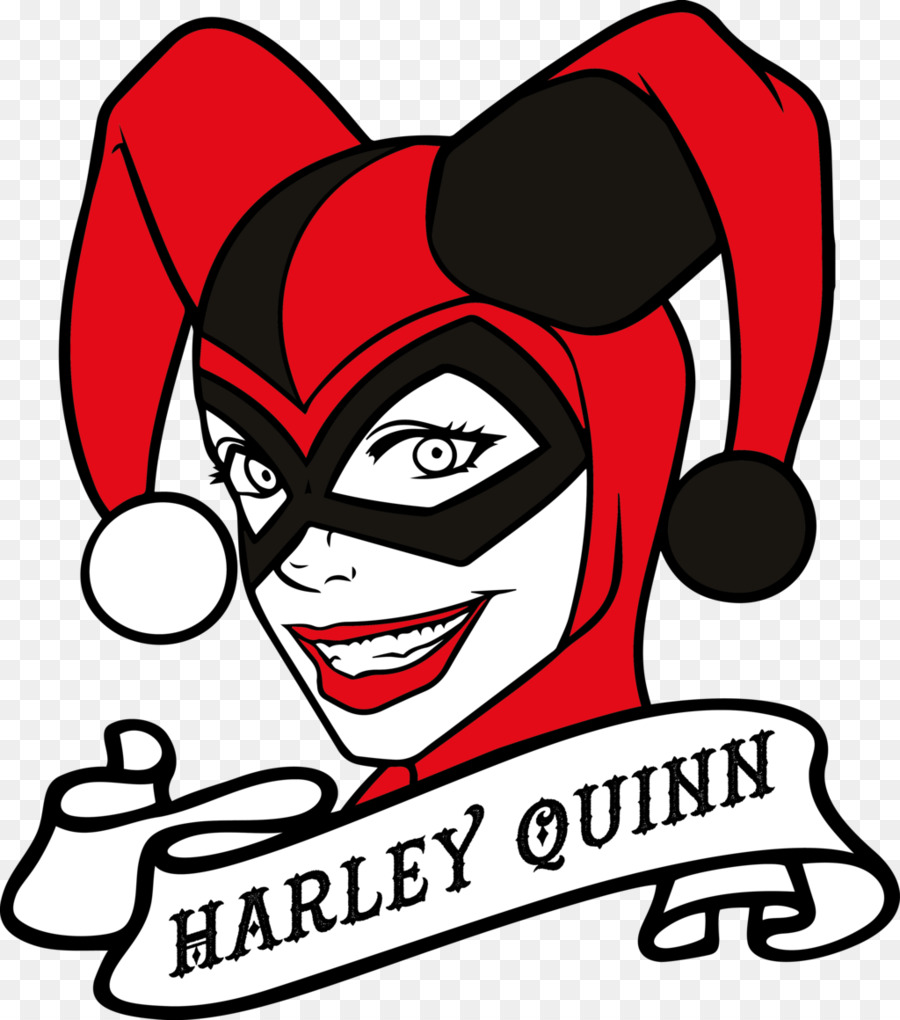 900x1020 Harley Quinn Joker Clip Art
