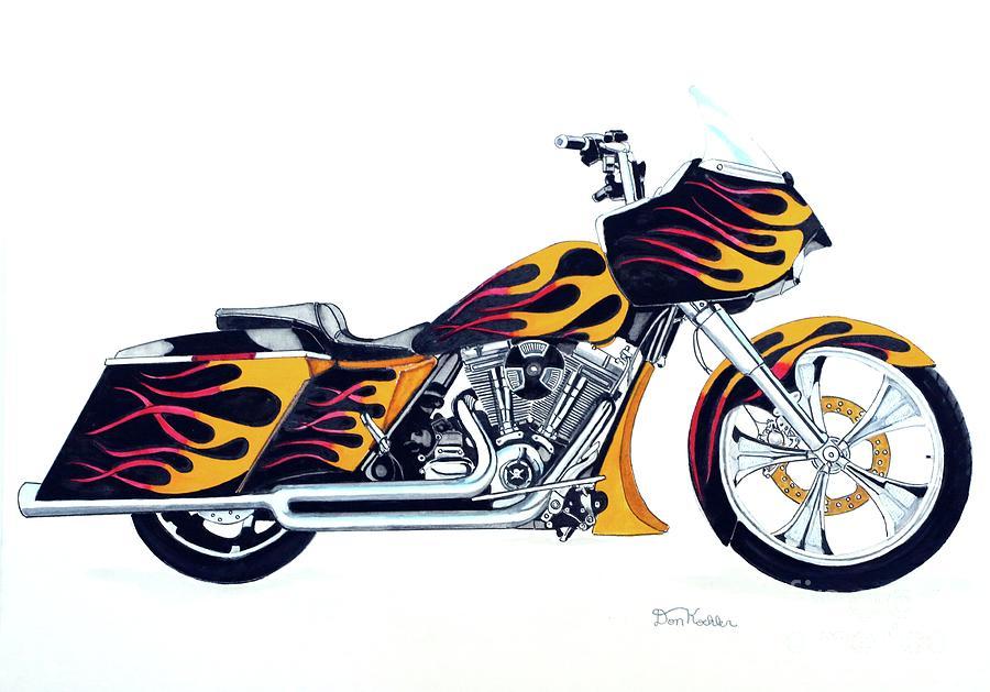 900x629 Harley Davidson Paintings