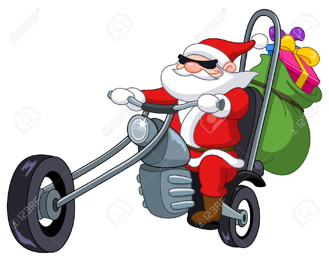 1300x1035 Santa On Motorcycle Clipart Images Collection