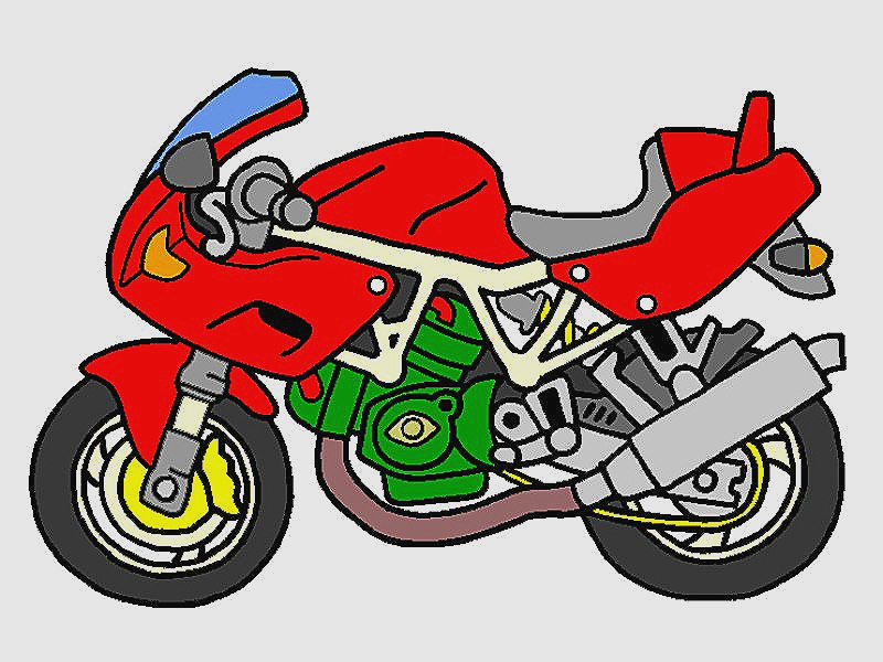 800x600 Beautiful Motorcycle Clipart Png