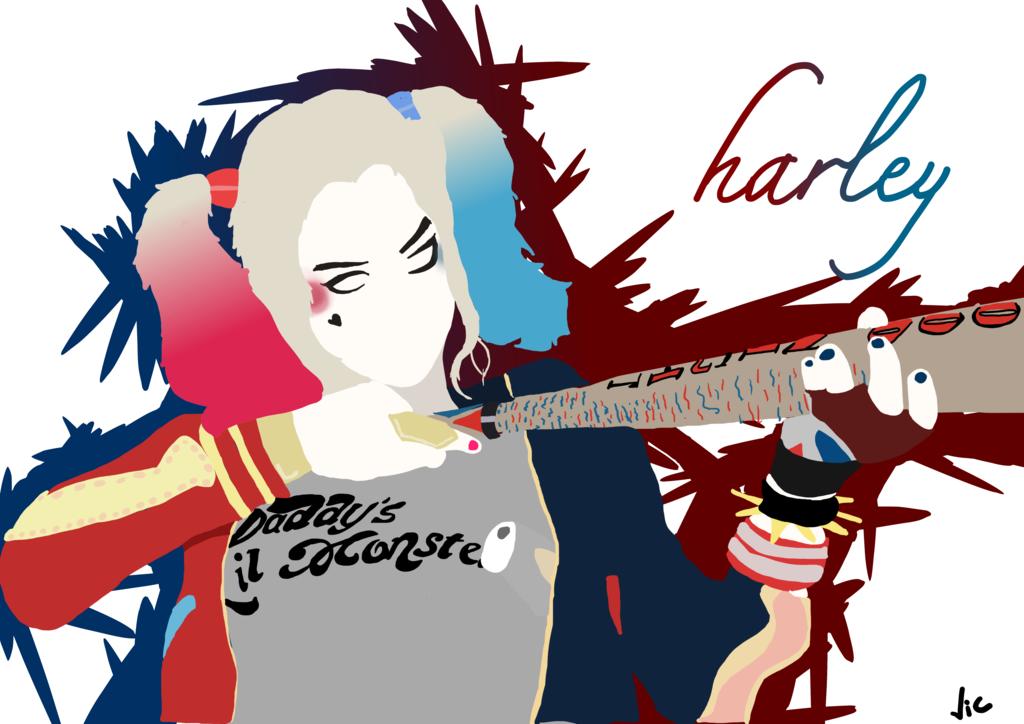 1024x724 Harley Quinn Minimalist By Victorabbe666