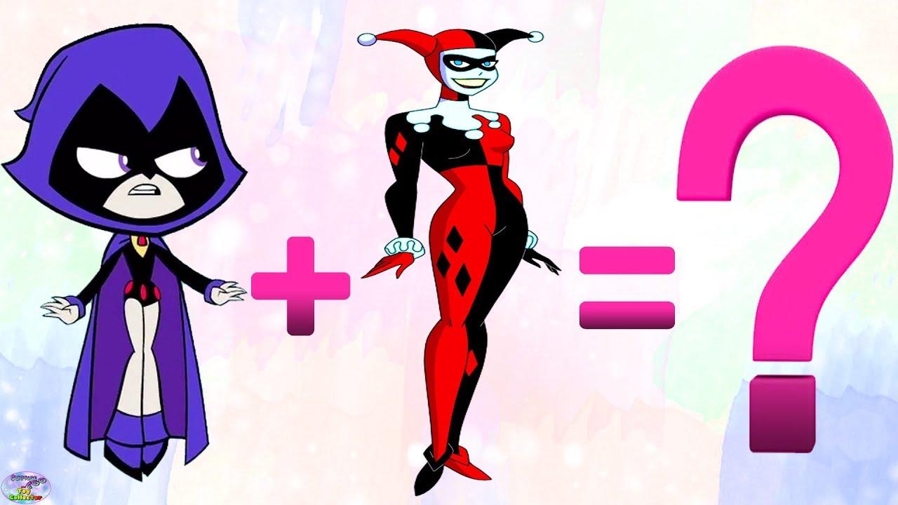 1280x720 Teen Titans Go! Transforms Raven Starfire Joker Harley Quinn