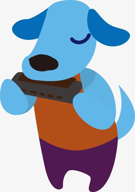 456x650 Cartoon Puppy Harmonica Pattern, Cartoon Puppy, Harmonica, Pattern