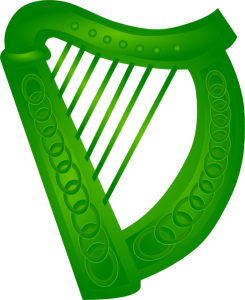 245x300 Irish Harp Clipart Irish Harp Green Clip Art