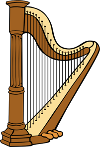 201x296 Classical Harp Png, Svg Clip Art For Web