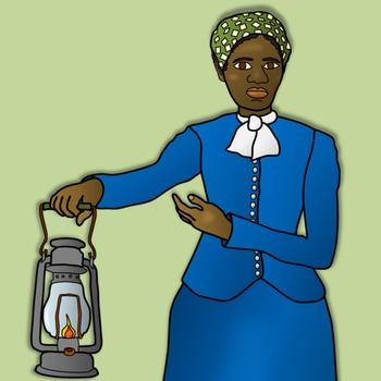 350x350 Harriet Tubman Clipart And Paper Dolls By Teacher's Palette Tpt