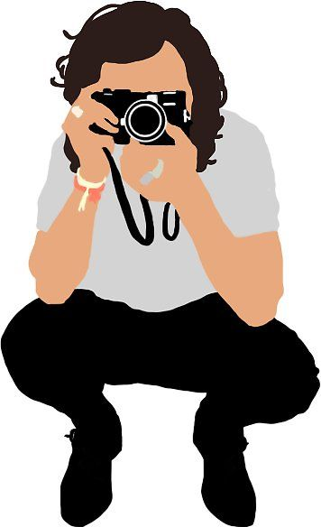 356x584 Harry Styles Vector Illustration Photograph' Pegatina By Liselotjaah