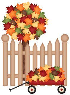 236x321 Foliage 3 Autumn Thanksgiving Cards, Clip Art