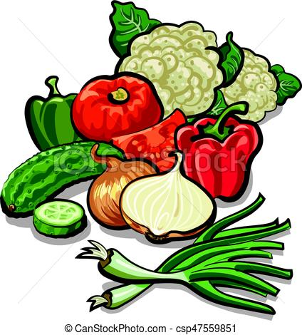 424x470 Harvest Of Vegetables. Illustration Of Harvest Of Different