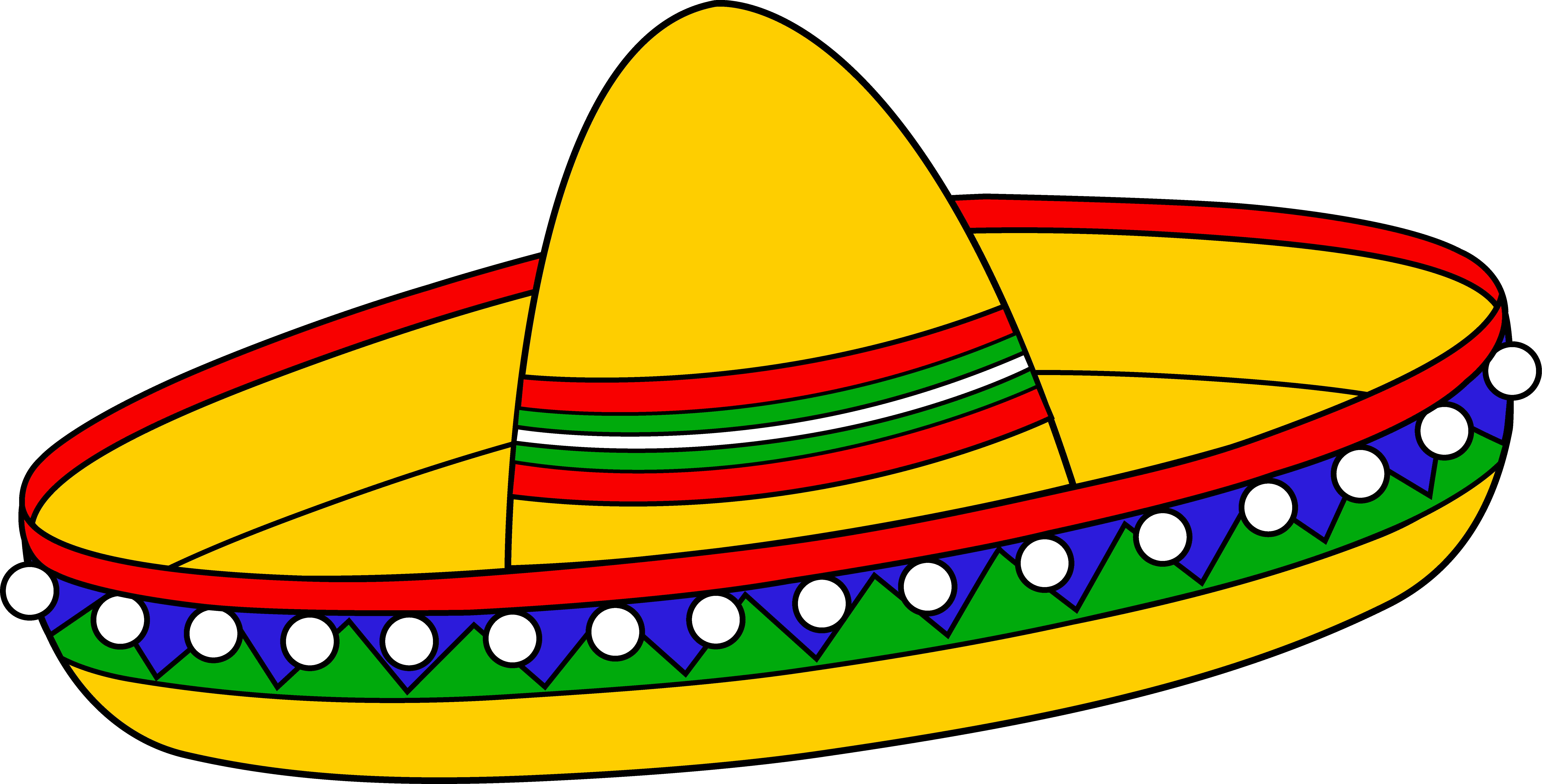 8783x4467 Colorful Mexican Sombrero Hat