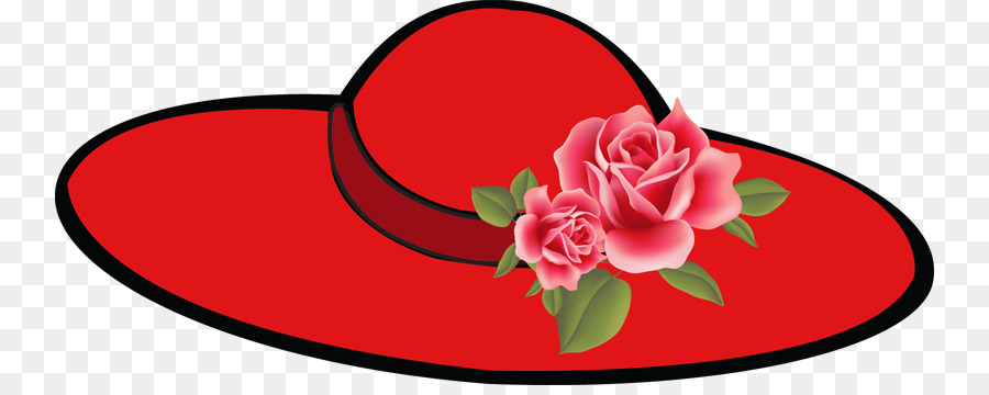 900x360 Red Hat Society Woman Cap Clip Art