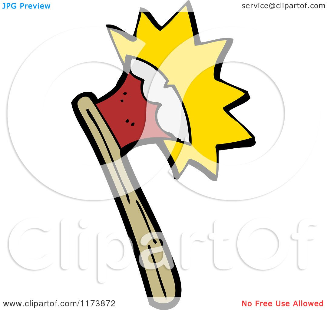 1080x1024 Cartoon Of A Hatchet Or Axe