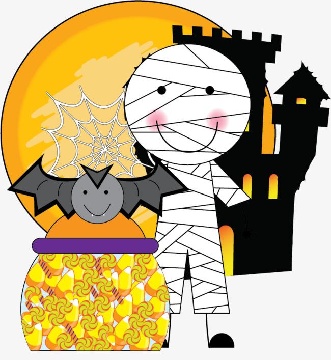 650x707 Halloween Mummy Castle Bats, Halloween, Halloween Elements, Mummy
