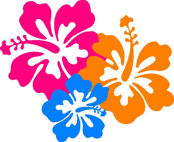 600x492 Hawaiian Flower Clip Art Borders Clipart Panda