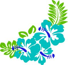 236x224 Hawaiian Flowers Clip Art