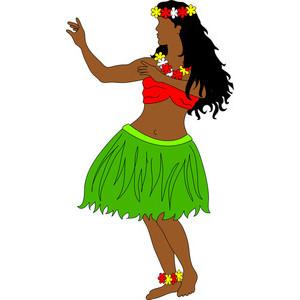 300x300 Hawaiian Hula Girl Clipart Clip