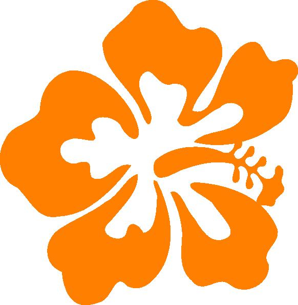 582x597 Orange Hisbiscus Clip Art
