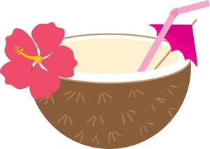 300x213 Collection Of Coconut Drink Clipart High Quality, Free