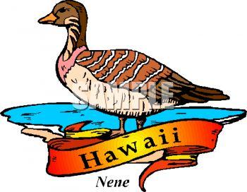 350x272 Royalty Free Clip Art Image The Nene, State Bird Of Hawaii