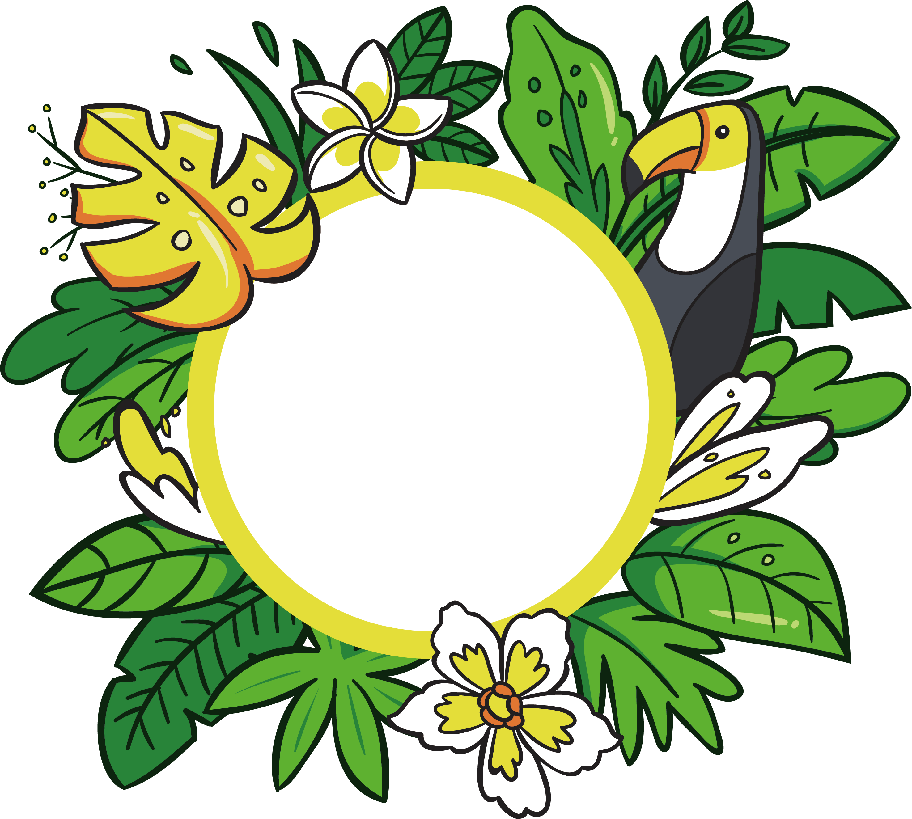 2951x2651 Hawaii Floral Design Cartoon Clip Art