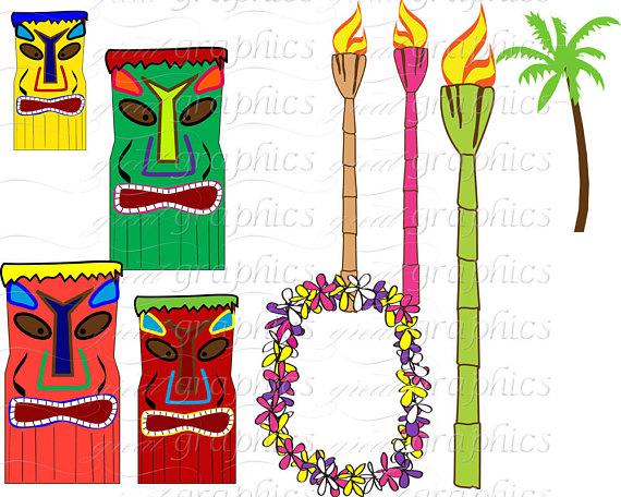 570x456 Hawaiian Luau Digital Paper Luau Party Clip Art Hawaii Luau